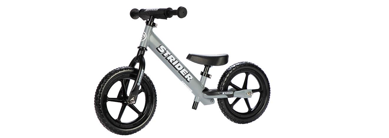 Strider Matte Gray Sport balance bike