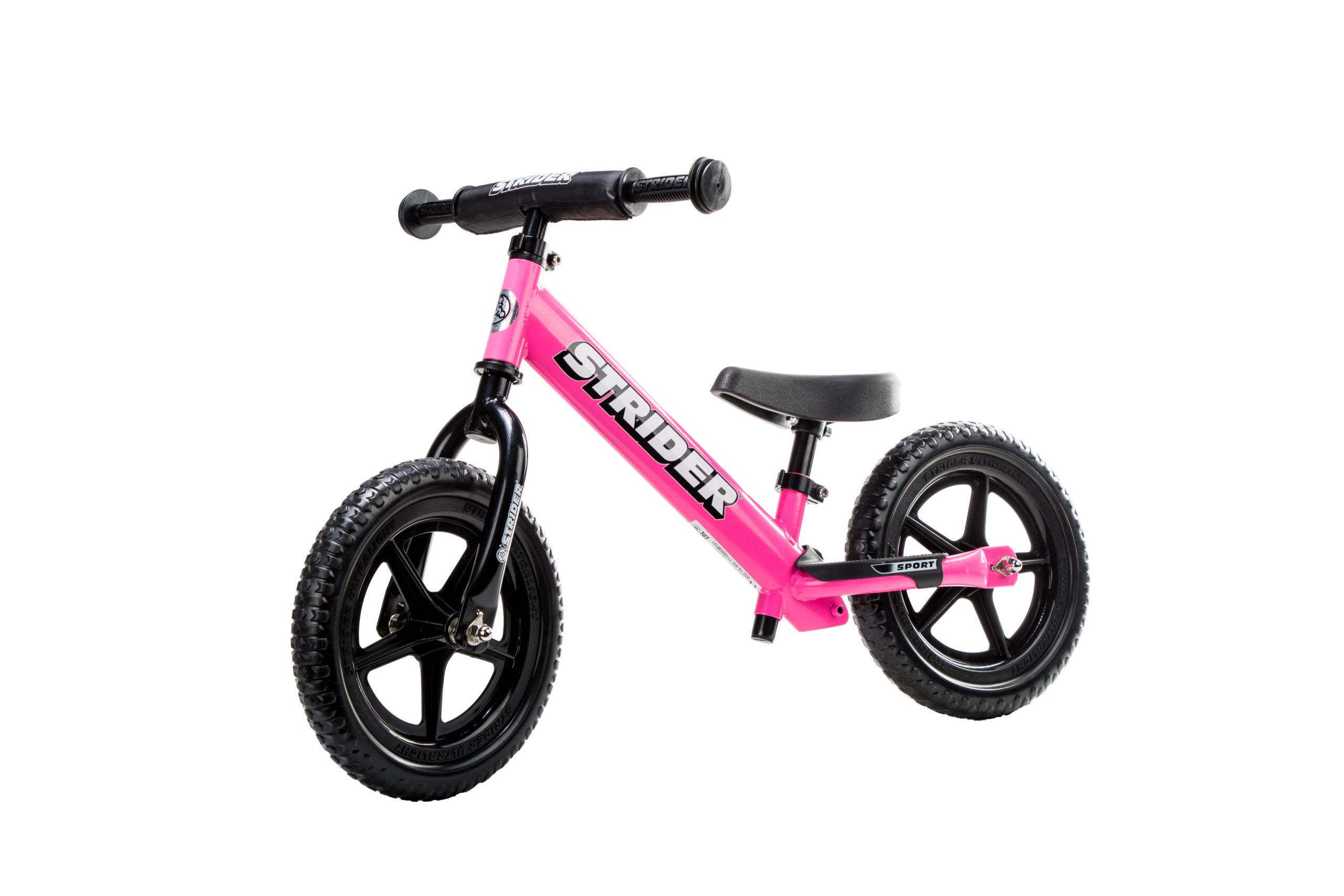 Studio image of Pink 12 Sport bike at angle
