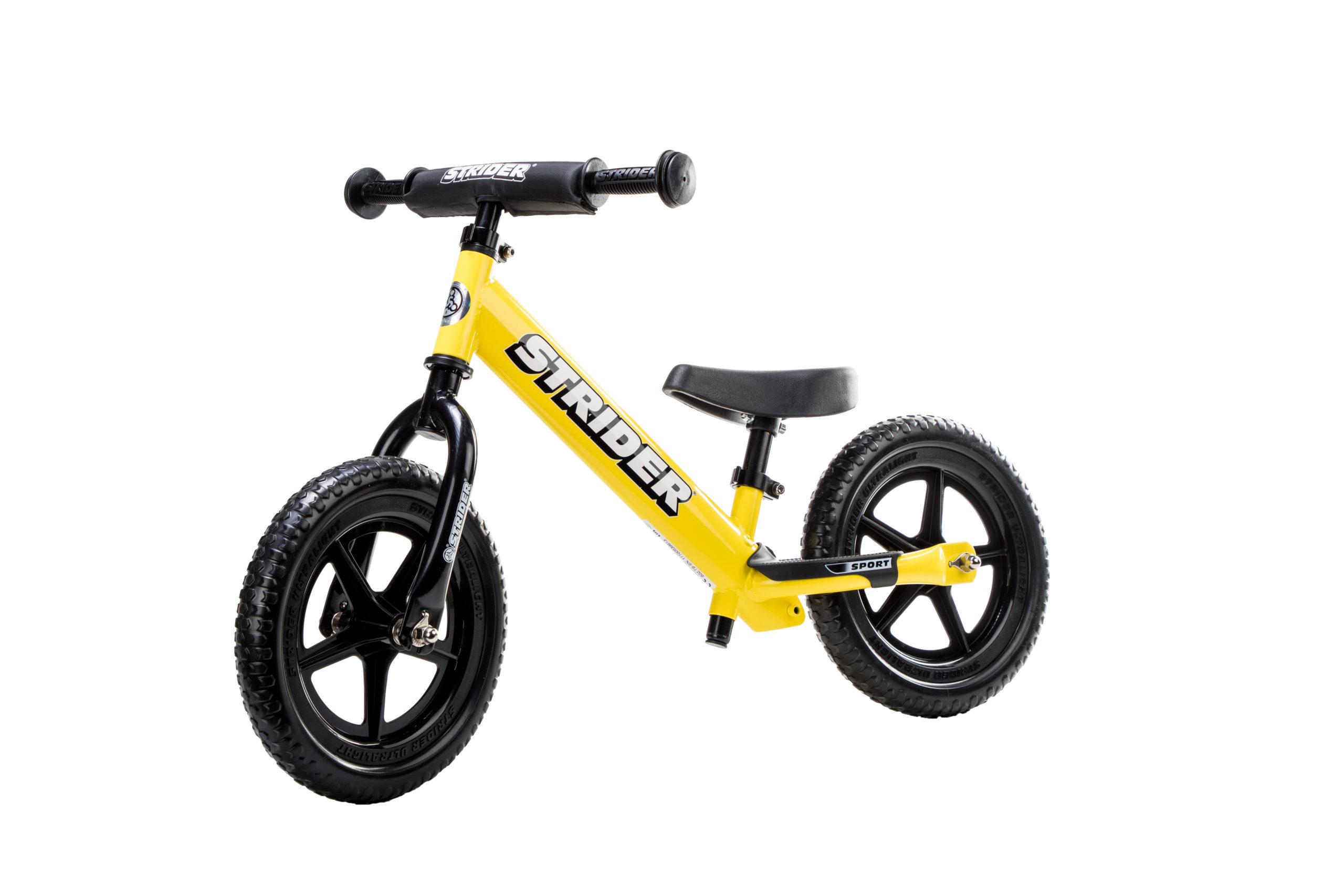 Studio image of Yellow 12 Sport bike at angle