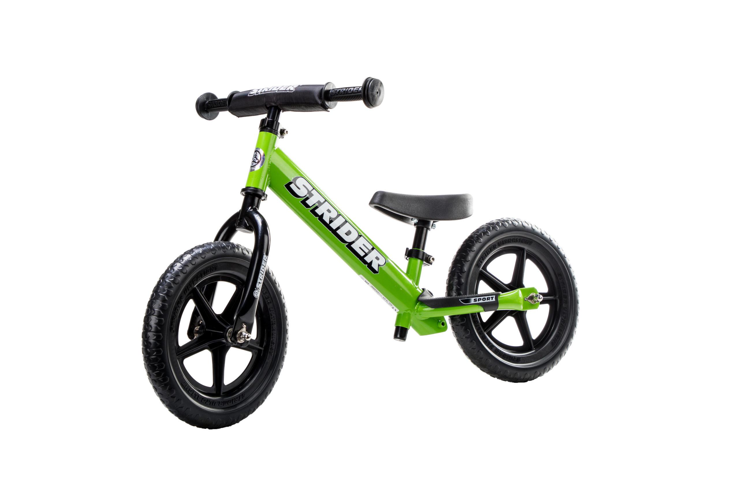 Studio image of Green 12 Sport bike at angle