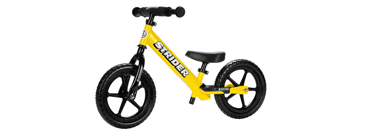 Left angle studio image of yellow 12 Sport