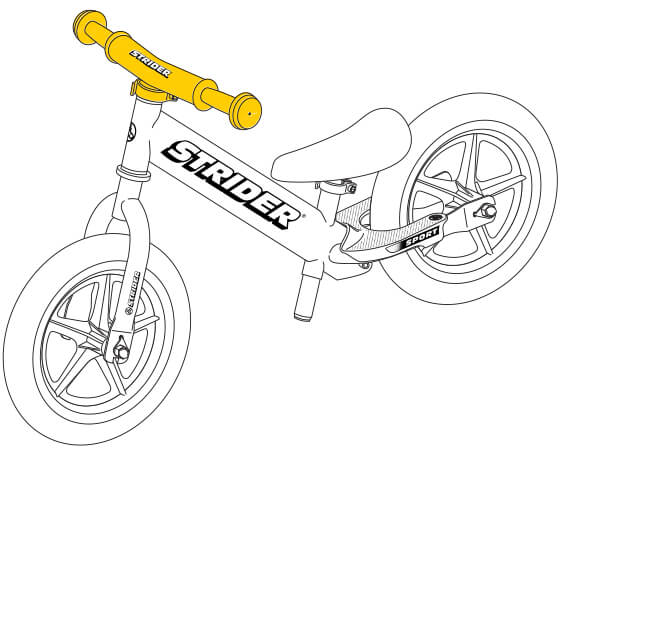 illustration Strider 12 Sport balance bike handlebar