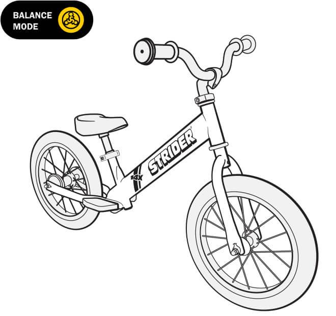 illustration Strider 14x balance bike full specs