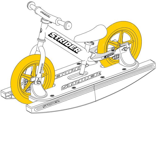 illustration Strider 12 Sport Baby Bundle wheels