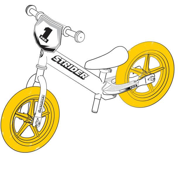 illustration Strider 12 Pro wheels