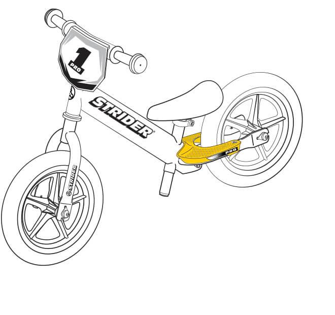 illustration Strider 12 Pro footrests