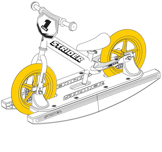illustration Strider 12 Pro Baby Bundle wheels