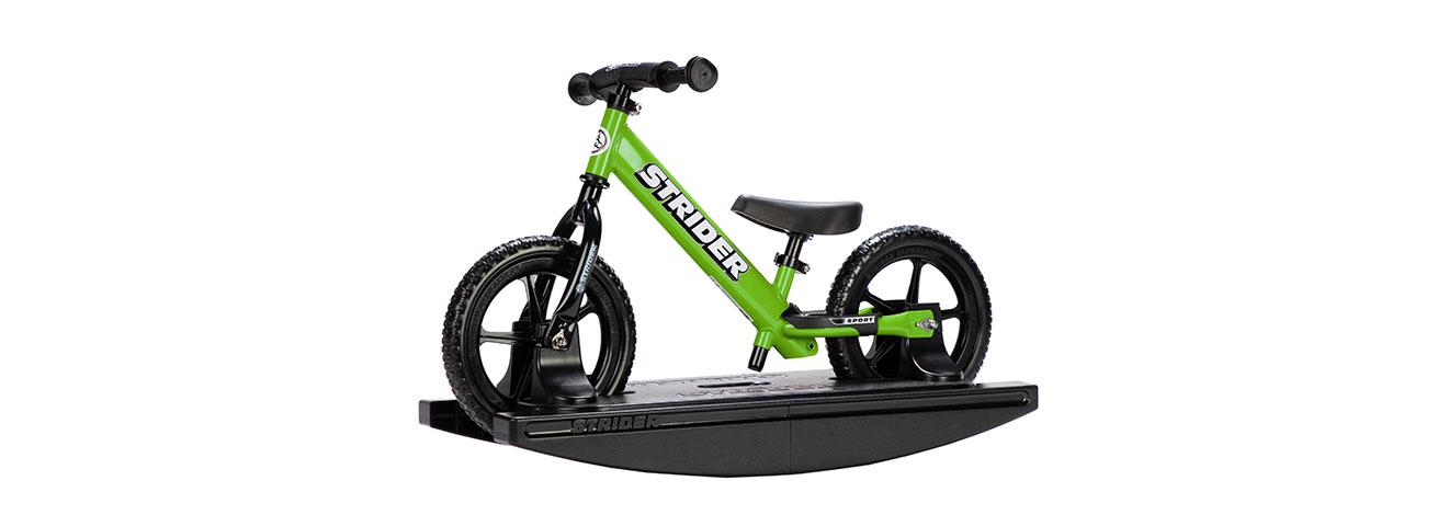 2-in-1 Rocking Bike Green Studio Image