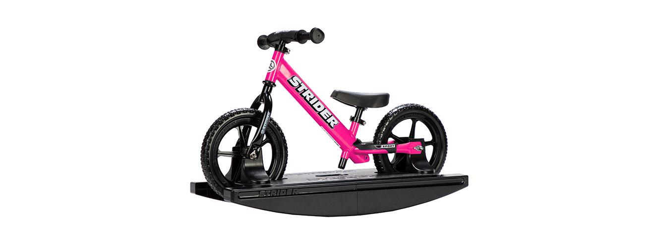 2-in-1 Rocking Bike Pink Studio Image