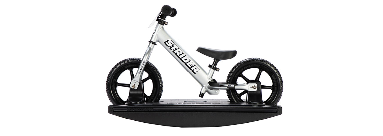 12 Pro 2-in-1 Rocking Bike Silver Studio Image