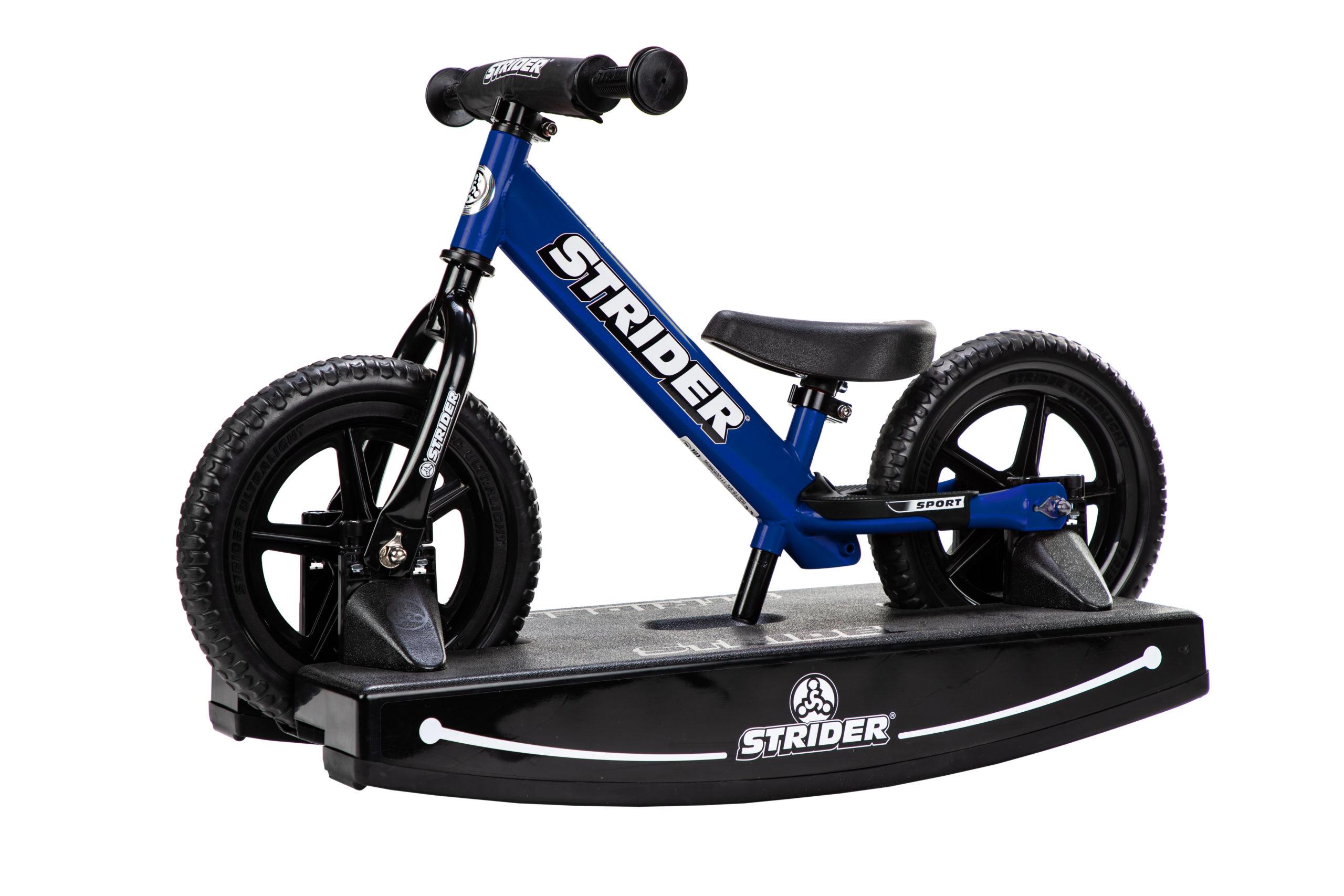 Studio Image of blue 12 Sport 2-in-1 Rocking Bike