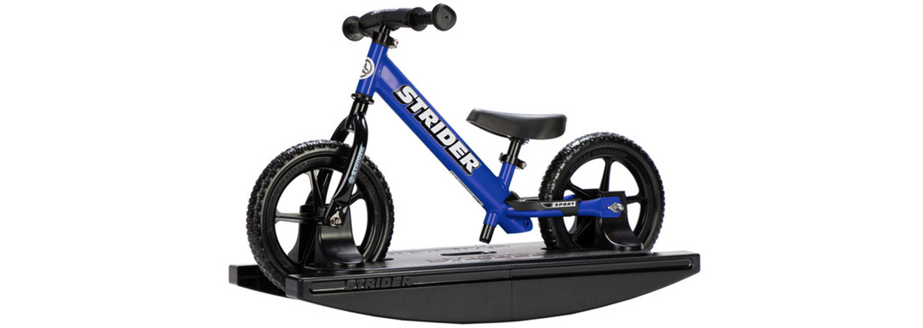 studio shot of Blue Strider 12 Sport Rocking Bike