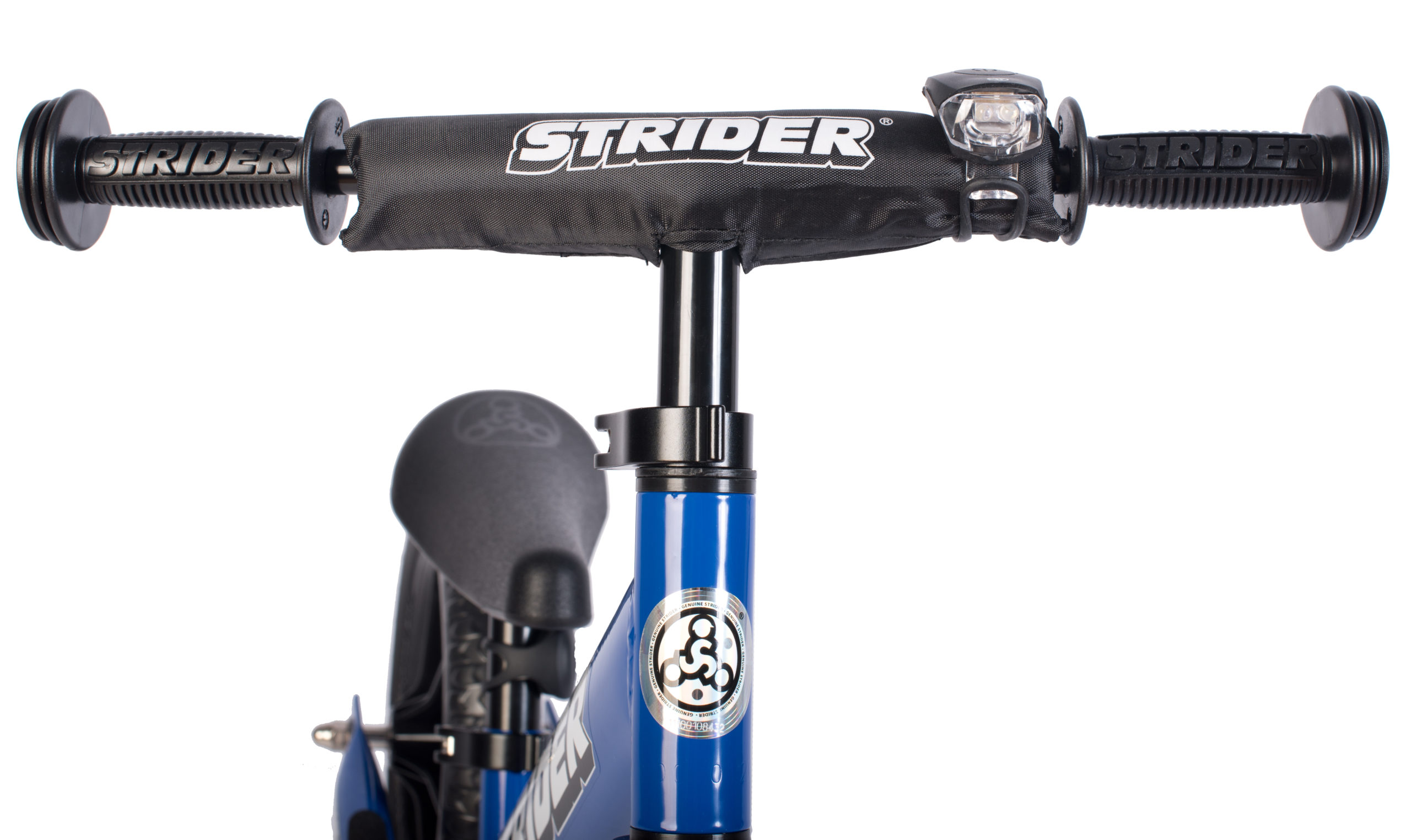 Studio image of Strider light on handlebar