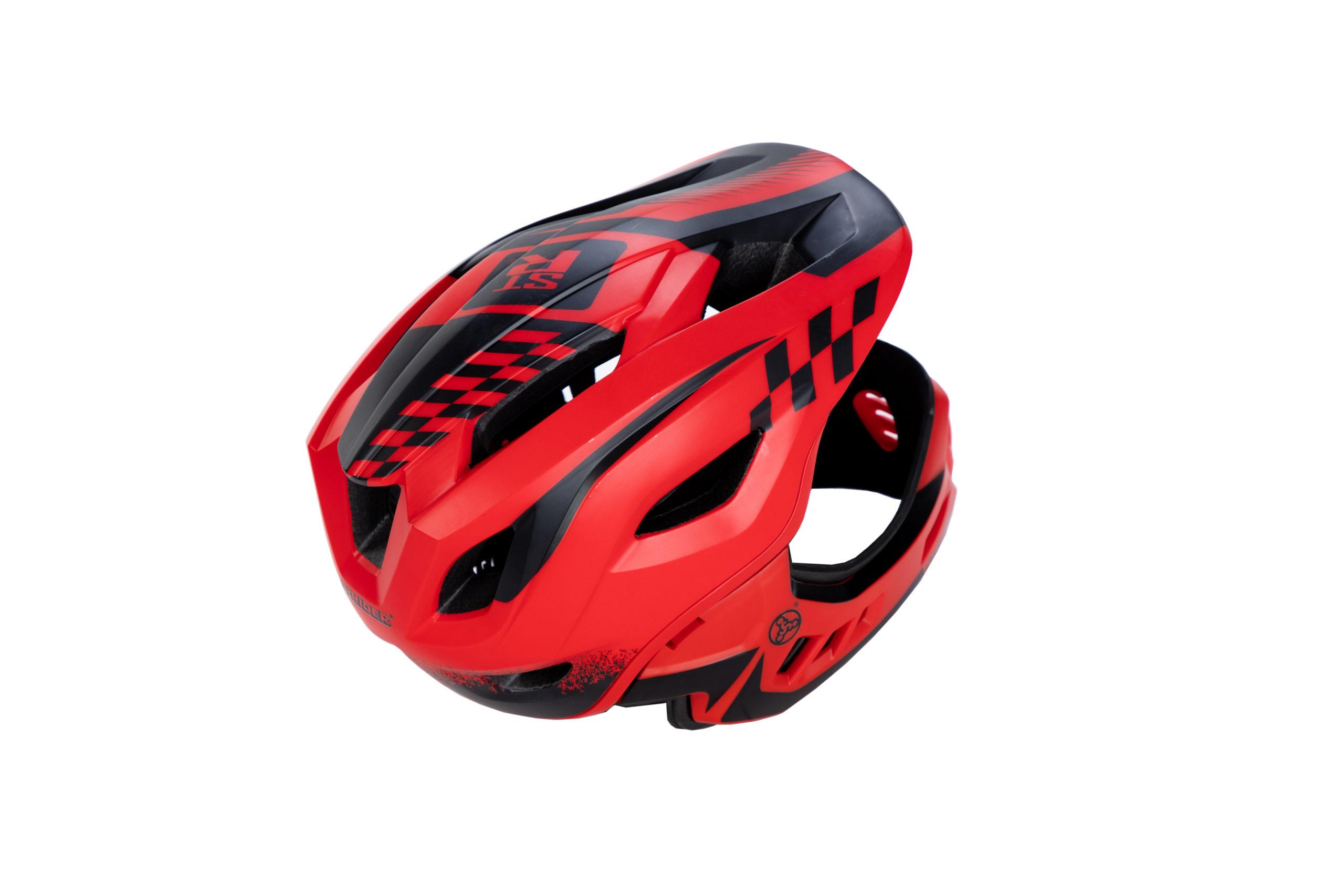 Rear view of ST-R Full-Face Helmet Red