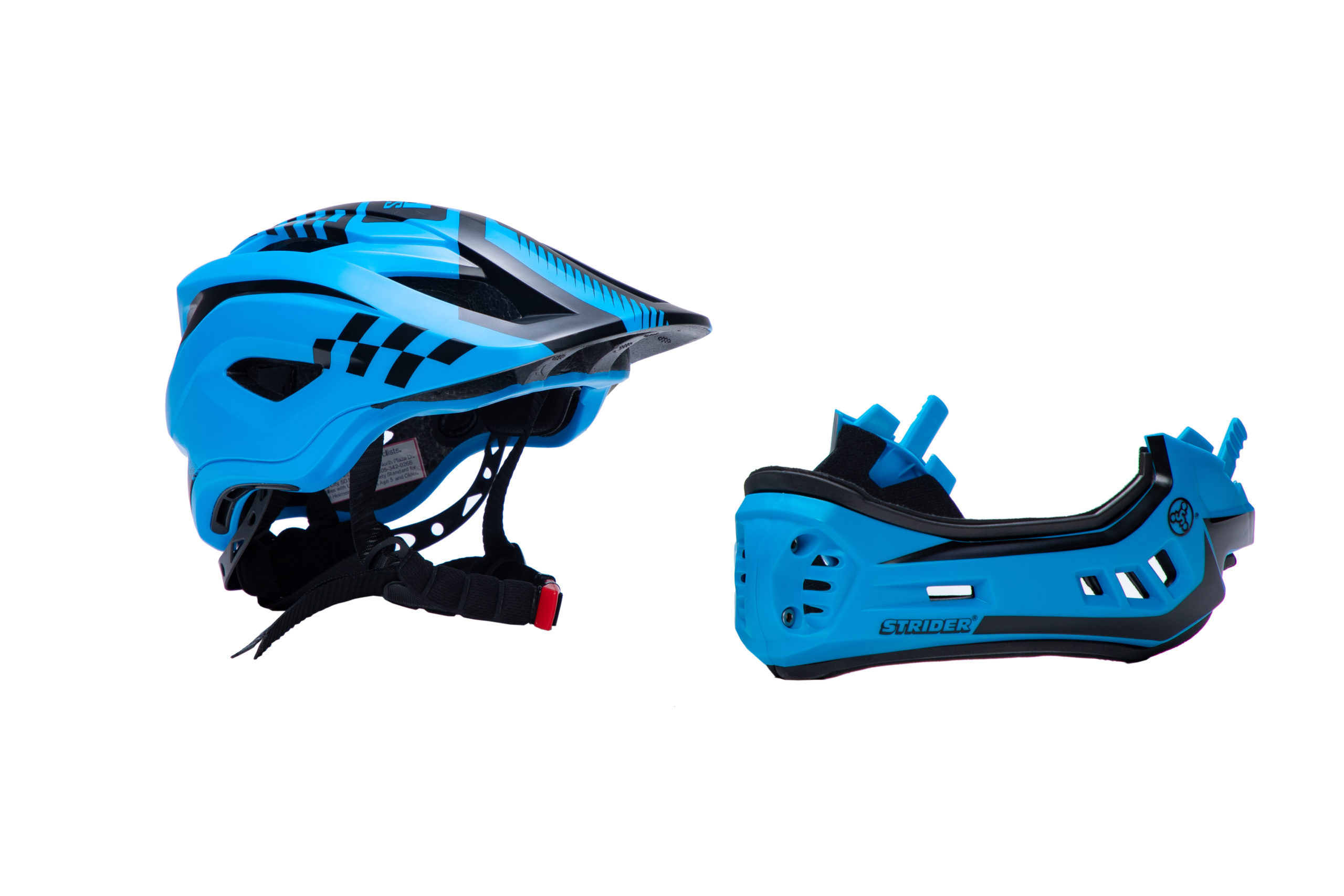 Unattached ST-R Blue Full Face Helmet