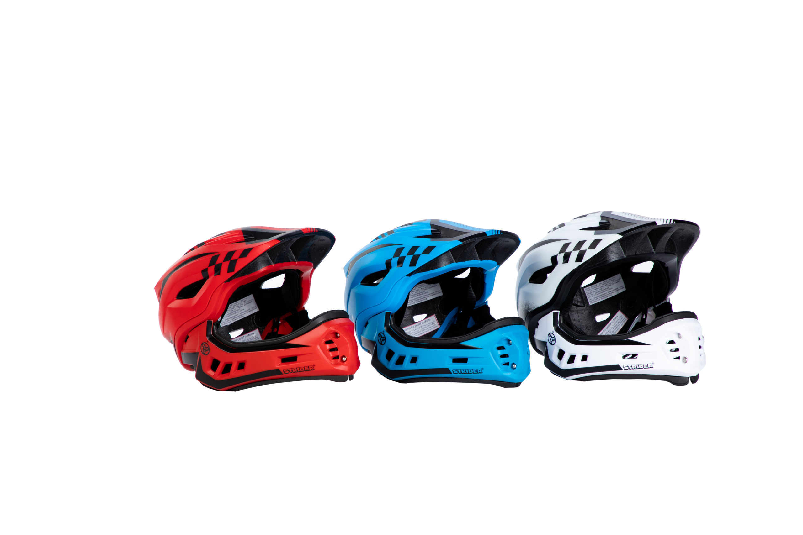 Red, Blue, White ST-R Full-Face Helmets