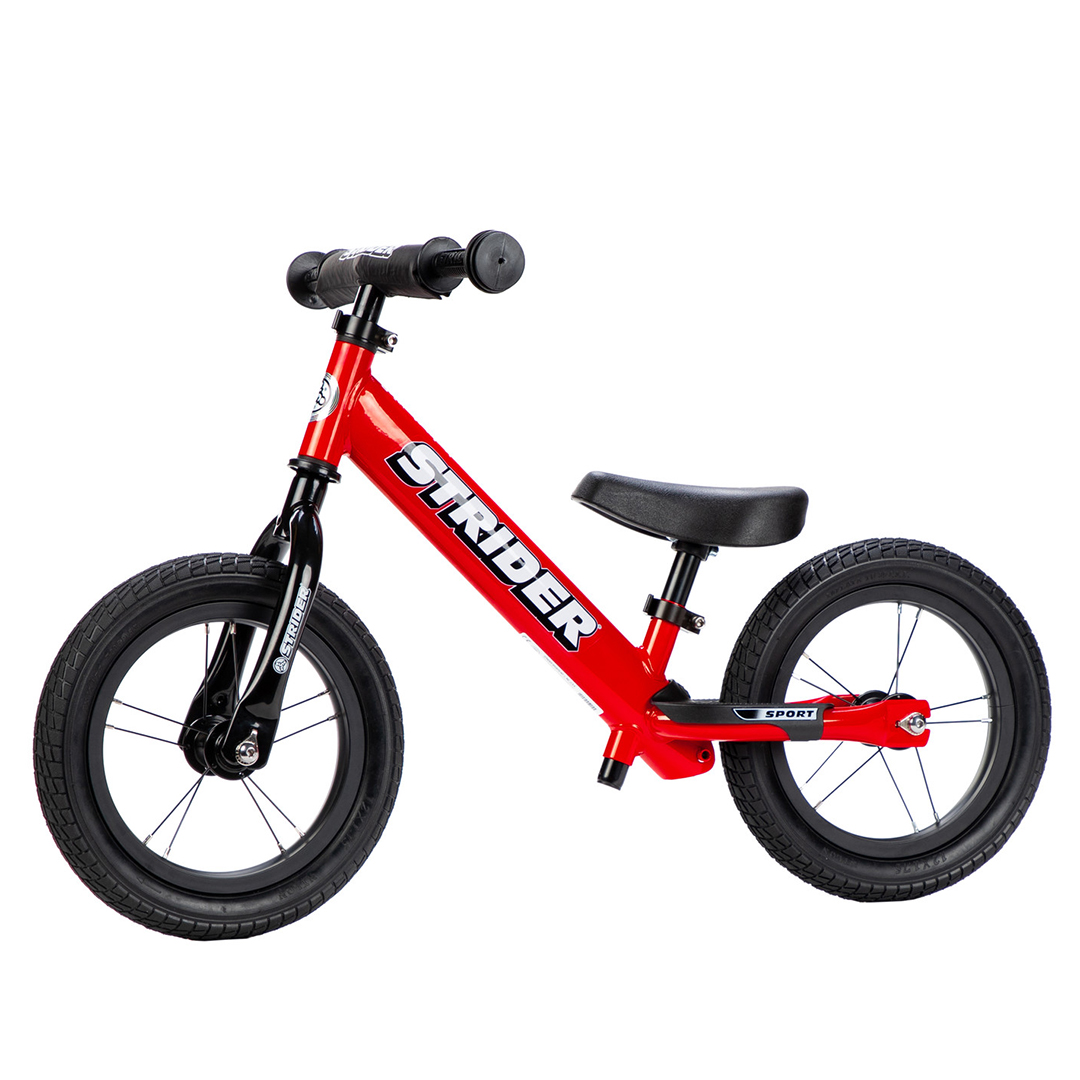 "Strider Bikes High Traction Wheelset on 12"" Red Sport Balance Bike"